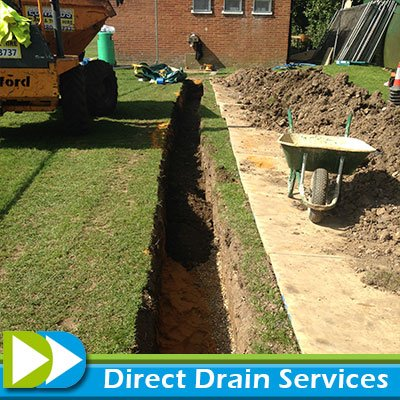Replacing broken drainage pipes