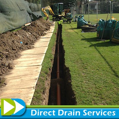 Replacement drainage installation
